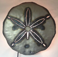 Sand Dollar Wall Sconce Tin Hand Punched Lighted Nautical Sea Animal $63.00