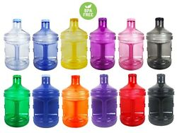 BPA Free 1 Gallon Plastic Water Bottle Container Drinking Canteen Jug Color H2O  $11.98