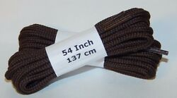 6 Pair Pack Round Athletic Laces for Boots And Shoes BROWN