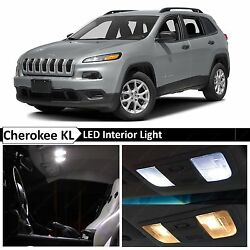 15x White Interior Map Dome LED Light Package Kit for 2014-2015 Jeep Cherokee KL $17.89