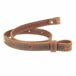 Buffalo Hide Leather Rifle Gun Sling Crazy Horse Brown Amish Handmade 1quot; Wide $24.99