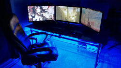 Gaming Gamer DESK LED Light KIT PS4 blue and all other COLORS too REMOTE $42.00