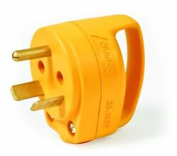Camco 55283 30 AMP Mini Replacement Male Plug with PowerGrip Handle $18.00