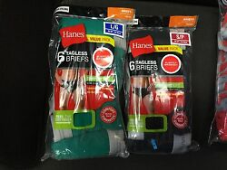 HANES BRIEFS 12-PACK MENS COLOR SIZES-S-XL COTTON  BLEND    2 X-3 X  10  PK $19.99