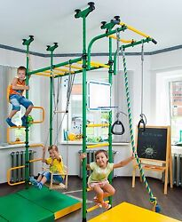 PEGAS: Kid's Indoor Home Gym Swedish Wall Playground Climbing Set