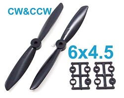4pairs 6x4.5 6045 CW CCW Propeller for Quadcopter rotor Black US SELLER SHIP $6.99