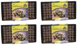 (4) ea Jiffy J372 Professional Greenhouse Seed Starting Tray Kits w 72 Jiffy 7s