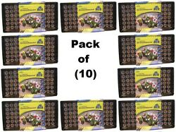 (10) ea Jiffy J372 Professional Greenhouse Seed Starting Tray Kits w 72 Jiffy 7s