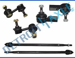 6pc Inner Outer Tie Rod Set & Front Sway Bar End Link Kit 2002 - 2004 Honda CR-V $37.24