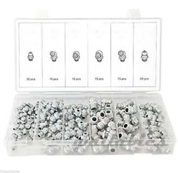 New 110Pc Hydraulic Lubrication Lube Grease Fittings Assortment Zerk Fitting SAE $14.65