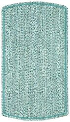 Capel Rugs Sea Pottery Tailored Patio IndoorOutdoor Braided Area RugBlue 400