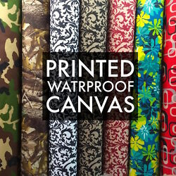 Printed Canvas Fabric Waterproof Outdoor 60quot; wide 600 Denier by the yard $7.14