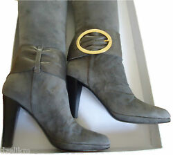 NIB Braccialini Italy Leather Suede Boots Size 7(US) or 37(EU)