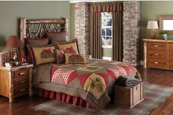 5PC CABIN QUEEN QUILT BED SETBEDDING PACKAGE PARK DESIGNS