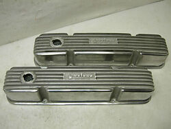 1960s NOS WEIAND MOPAR 413 426 ALUMINUM VALVE COVERS OLD SAY-WHY-AND 4-BOLT NEW