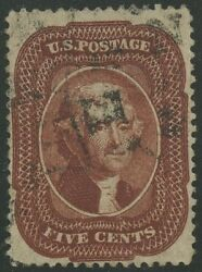#28b BRIGHT RED BROWN VF-XF USED LIGHT CANCEL WITH PF CERT WLM567 SRA17