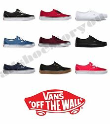 VANS CLASSIC AUTHENTIC NEW Sizes 4 13 Canvas Free Fast Shipping $56.85