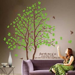 Green Lovers Tree Art Mural Removable Vinyl Decal Home Decor Wall Stickers Large $8.22