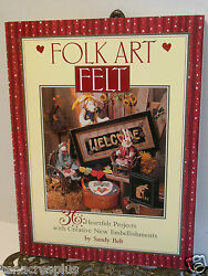 Folk Art Book Wool Felt Projects Harvest Welcome Christmas Tree Skirt Primitive