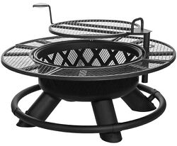 King Ranch Fire Pit with Grilling Grate SRFP96