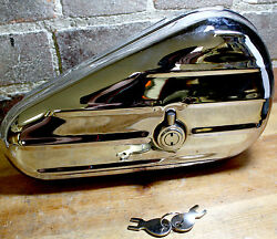 Chrome quot;Kidneyquot; Toolbox Replaces Harley Davidson 64205 40 1940 1957 Twins $39.95