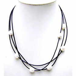 SALE 10-11mm white rice natural Freshwater Pearl 3 Strands 19-21