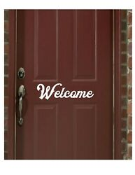 WELCOME FRONT DOOR  Vinyl Decals Stickers
