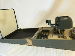 Vintage Apex Portable Slide Film Projector With Screen In Case VERY UNIQUE!!