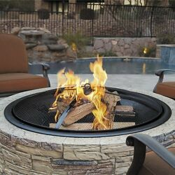 Stone Fire Pit Outdoor Patio Fireplace Wood Burning Backyard Deck Heater NEW