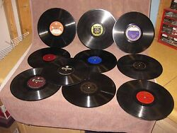 Mixed Lot of 10 Hillbilly  Country 78 RPM Records for Victrola