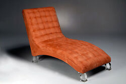 Made to Order by Muniz Plastics Chaise with Acrylic Legs