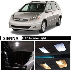 19x White Interior LED Light Replacement Package Kit Fit 2004 2010 Toyota Sienna $13.89