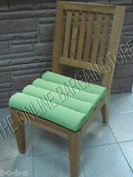 Frontgate Outdoor Channeled Replacement Patio Chair Cushion 17x17 Gingko Green