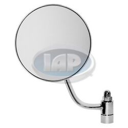 SIDE MIRROR SET ROUND CHROME (PAIR) LEFT & RIGHT VW BUG 49-67 113857513A  514A