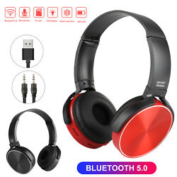 Wireless Bluetooth 5.0 Headphones Over Ear Noise Cancelling Stereo Headset Mic $15.97