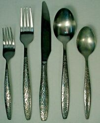 HOME Target Silver LEAVES stainless 5 piece PLACE SETTING $18.71