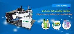 Label tubes machinery semi automatic benchtop plastic tube sticker labeling