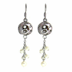 Ball Women Crystal Pearl Earrings Made with SWAROVSKI® Crystals