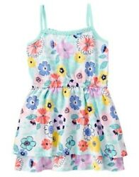 Gymboree Tropical Breeze Floral Print Knit Sleeveless Dress Girls' Size 6 NEW