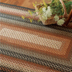 COCOA BEAN BRAIDED AREA RUGS By HOMESPICE DECOR. OVAL & RECTANGLE. MANY SIZES!