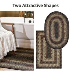 ENIGMA BRAIDED AREA RUGS By HOMESPICE DECOR. OVAL & RECTANGLE. MANY SIZES!