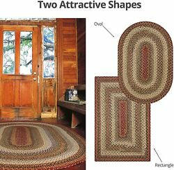 PUMPKIN PIE BRAIDED AREA RUGS By HOMESPICE DECOR. OVAL & RECTANGLE. MANY SIZES!