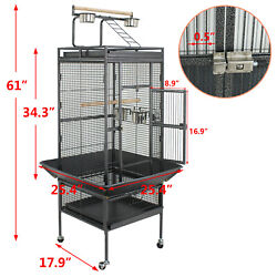 61quot; Large Bird Cage Large Play Top Parrot Finch Cage Pet Supplies Removable Part $114.99