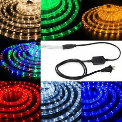 LED Rope Light 12 Thick Christmas Lighting Strips XMAS 10 25 50 100 150FT $16.99