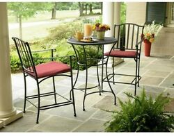 Wrought Iron High Bistro Stationary Patio Furniture Wilder Free Shipping New!!!