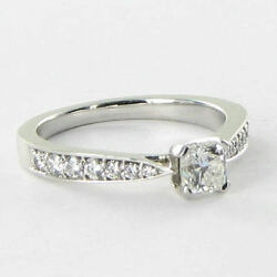 Hearts On Fire Dream Solitaire Engagement Ring 0.79cts Diamonds 18k WG Sz 6.5