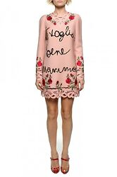 Dolce and Gabbana I love you Mamma sequin Dress retails for 12k size 42 NWT!