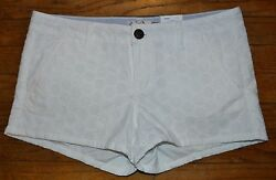 So Authentic American Heritage Shortie Short Juniors Low Rise Shorts NEW WHITE $16.99