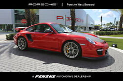 2011 Porsche 911 2dr Coupe GT2 RS 2dr Coupe GT2 RS Low Miles Manual Gasoline 3.6L FLAT 6 Cyl Guards Red