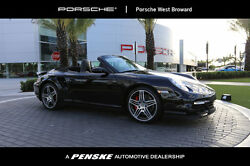 2009 Porsche 911 2dr Cabriolet Turbo 2 dr cabriolet turbo low miles convertible manual gasoline 3.6 l flat 6 cyl black